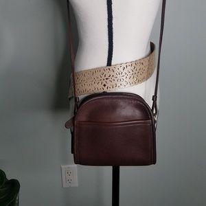 Coach brown leather handbag purse mini